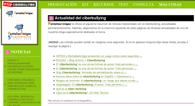 Captura de Stop-Ciberbullying.com